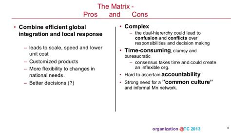pros and cons matrix template organization theory and design 08 2013