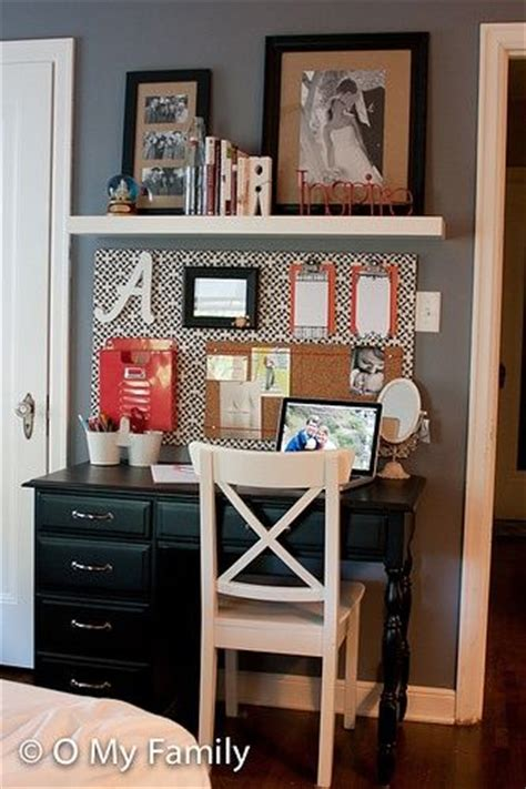small bedroom with desk organized desk area cute for small spaces also perfect