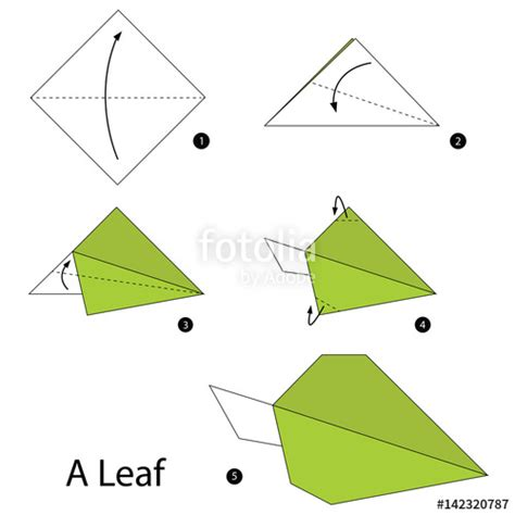 Origami R5 01 - quot step by step how to make origami a leaf