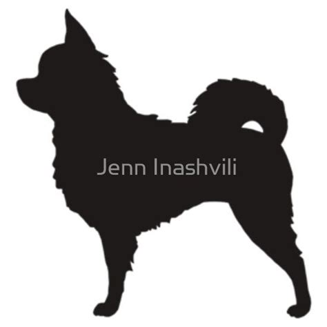 long haired chihuahua silhouettes sticker chihuahuas