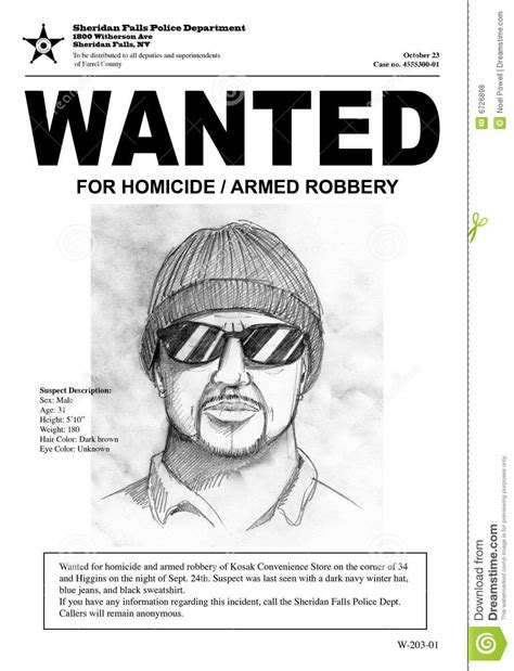 Wanted Poster Stock Illustration Illustration Of Reward 6726898 A Murderer Poster Template
