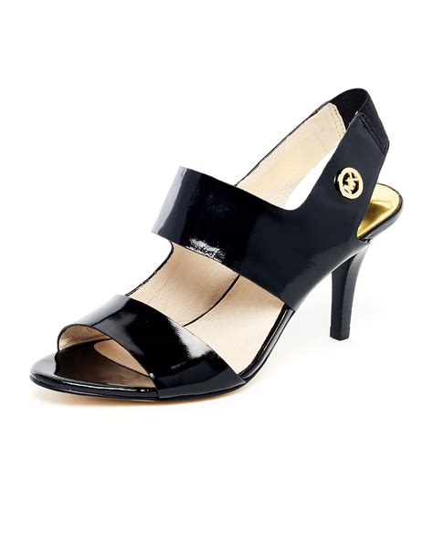 michael kors patent leather sandals michael michael kors rochelle patent leather strappy