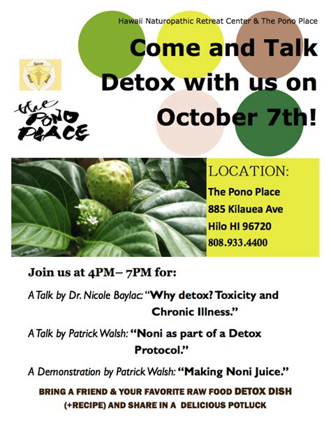 Detox Events by Come And Talk Detox With Us On Oct 7th