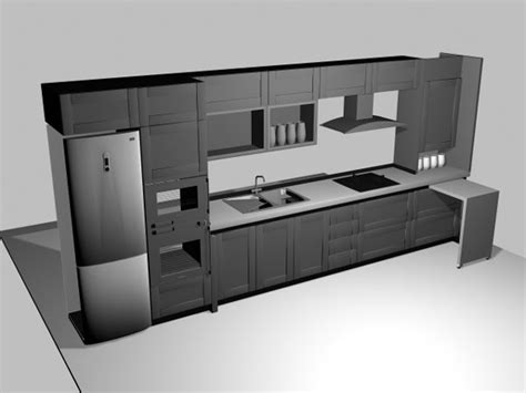Types Of Kitchen Cabinets Materials by Ikea Type Kitchen Cabinets 3ds 3d Studio Max Software