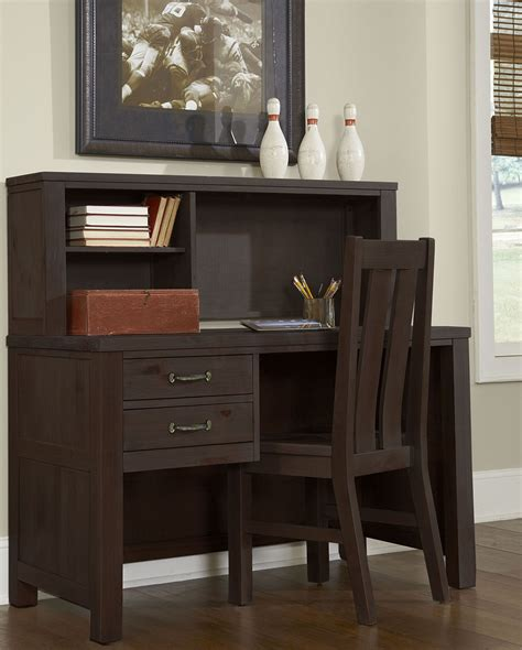 highlands espresso desk with hutch and chair 11540ndhc