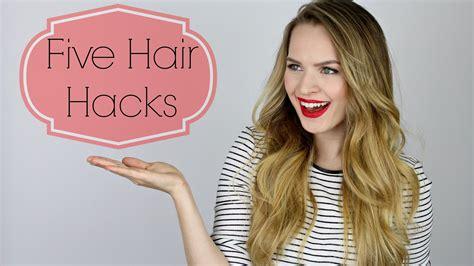 easy hacks 5 easy hair hacks