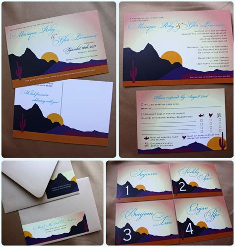 Wedding Invitations Tucson by Arizona Desert Themed Wedding Save The Dates Invitations