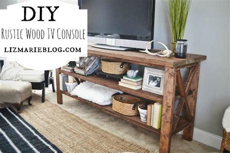 diy tv bench diy rustic tv console