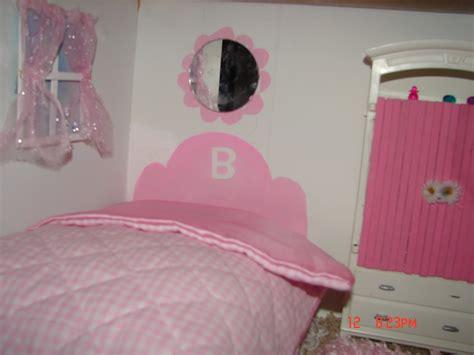Headboard Wall Sticker diy barbie house from a shelf a girl and a glue gun