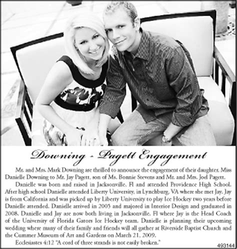 Newspaper Engagement Announcement Template by Labels Engagement