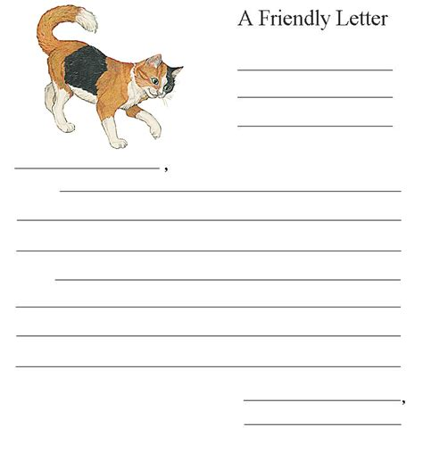printable cat stationery cat stationery