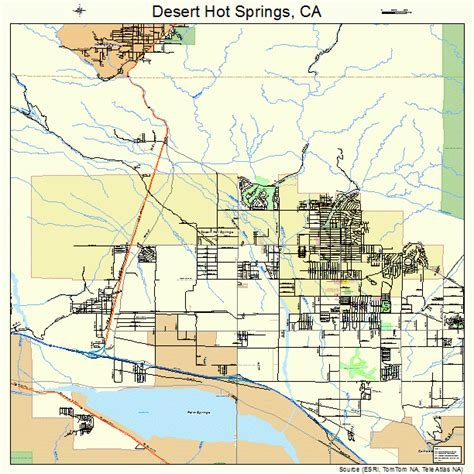california map desert springs in california map images