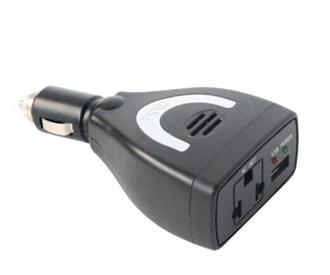 Car Computer Port by Dc12v To Ac 220v 75w Car Power Inverter With Usb Port