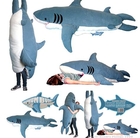 Giant Stuffed Shark Sleeping Bag | giant plush shark sleeping bag the world of kitsch