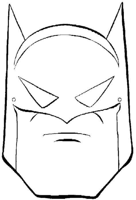 batman coloring mask coloring pages