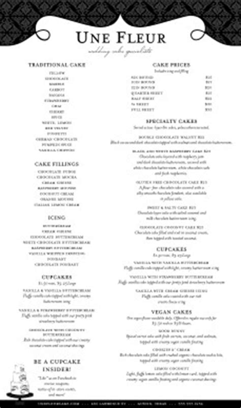black  white catering menu long template archive