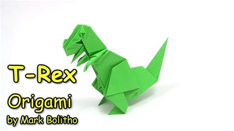 How To Make An Origami T Rex - origami t rex easy dinosaur como fazer origami