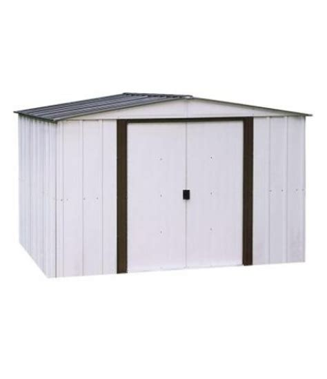 finance arrow newport 10 ft x 12 ft metal shed on