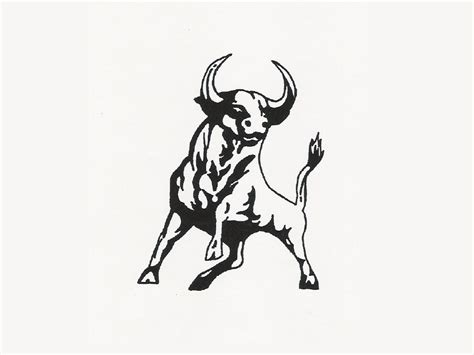 ox tattoo designs small size bull tattooshunt