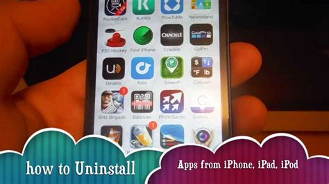 how to uninstall an app on iphone how to uninstall apps in iphone 5s iphone 5c iphone 5 iphone 4s iphone 4 iphone 3gs ipod