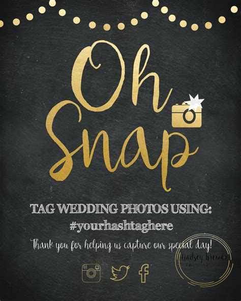 Wedding Hashtag Sign by How To Choose A Wedding Hashtag This Tale