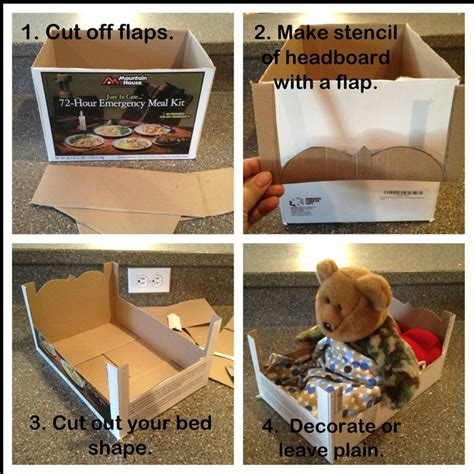 diy doll bed cardboard doll bed tutorial super easy diy ideas pinterest doll beds dolls