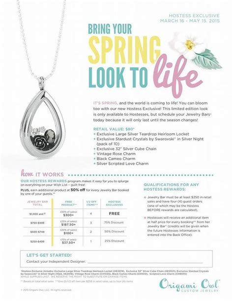 Origami Owl Brochure - 121 best origami owl hostess exclusives images on