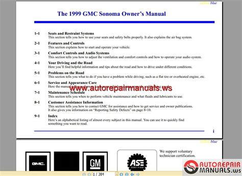 manual repair autos 2002 gmc sonoma user handbook gmc truck sonoma 1999 owner s manual auto repair manual forum heavy equipment forums