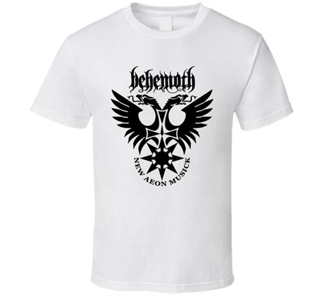 Tshirt Metal Logo behemoth heavy metal rock band logo t shirt