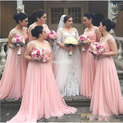 red wedding guest dresses gown and dress gallery plus size bridesmaid dresses chiffon blush pink cap