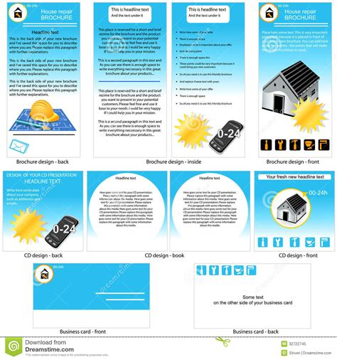 Credit Repair Brochure Templates Home Repair Template Design Stock Vector Image 32722745