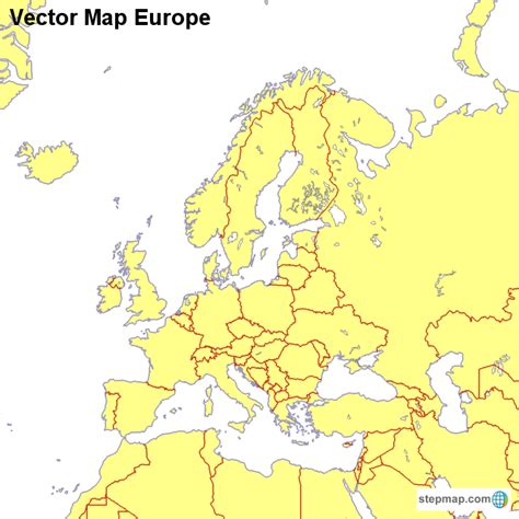 vector europe map vector map europe countrymap landkarte f 252 r europa