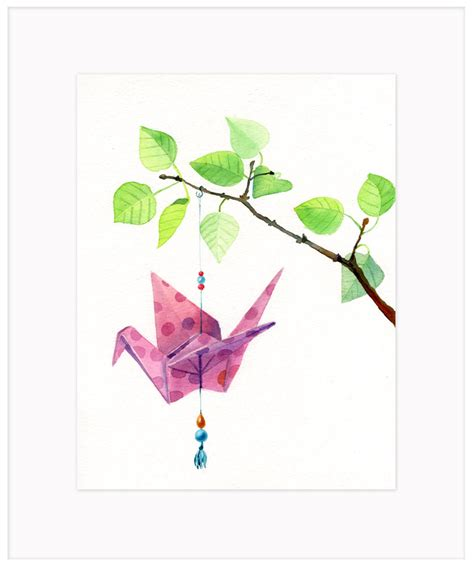 origami cranes for sale origami crane watercolor