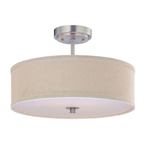 Drum Ceiling Light Semi Flush Ceiling Light With Drum Shade 16 Inches Wide