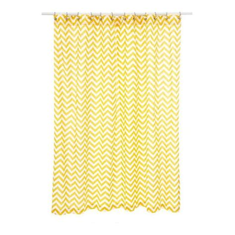 yellow print shower curtain yellow chevron shower curtain