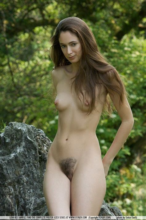 Slender Naked Young Woman In Nature From Skinnygirlnude Com