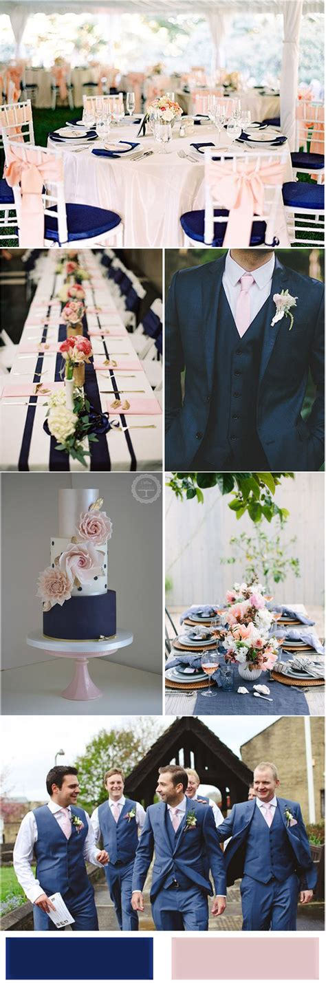pink and blue wedding colors nobleness and eternity stunning navy blue wedding color ideas