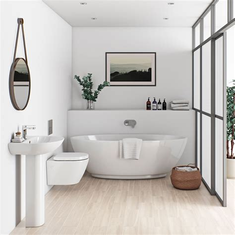 on suite bathrooms mode harrison bathroom suite with freestanding bath