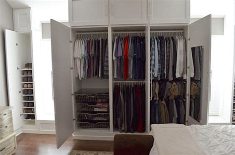 the happy homebodies reveal diy custom built in wardrobe