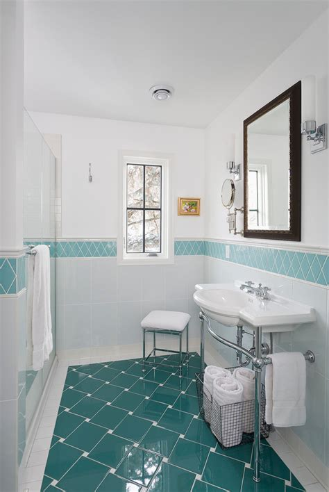 floor tile designs Kitchen Traditional with art tile