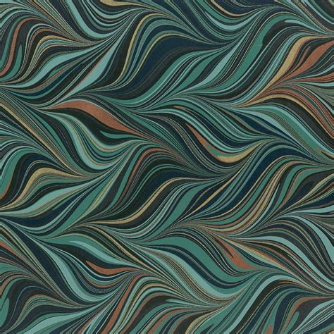 Marbled Paper - crepaldi marbled paper teal waved git gel 1 2 sheet