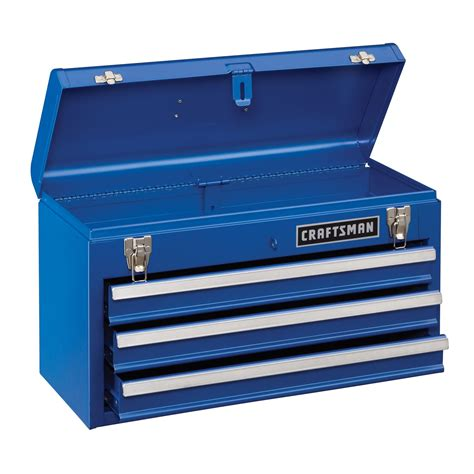 craftsman 113323 3 drawer metal portable chest chrome