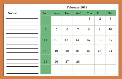 Printable And Editable Calendar 2018