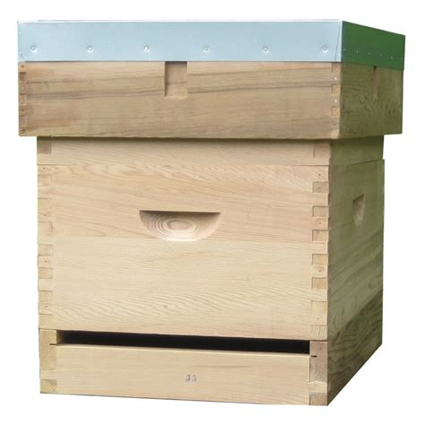 langstroth beehive with 6 quot flat roof langstroth hive
