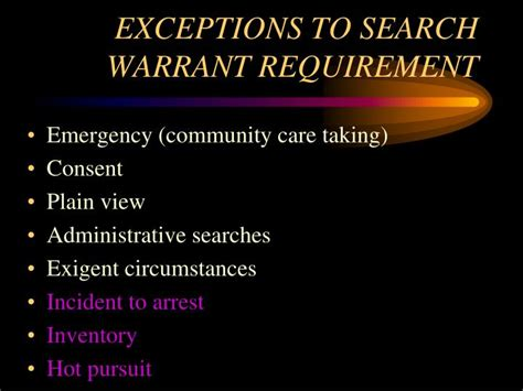 Exceptions To Search Warrant Ppt Aspects Of Arson Investigations Powerpoint Presentation Id 1030494