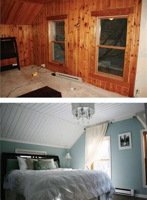 painted wood paneling before and after paneling before after before after pinterest