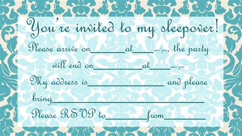 sleepover invitation template invitations for sleepover