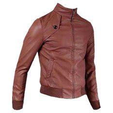 Jaket Kulit Pria Kr 06 Brown jual jaket kulit pria dan wanita murah dan bagus bulan