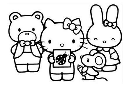 imagenes hello kitty y sus amigos pintar a hello kitty y sus amigos imagui