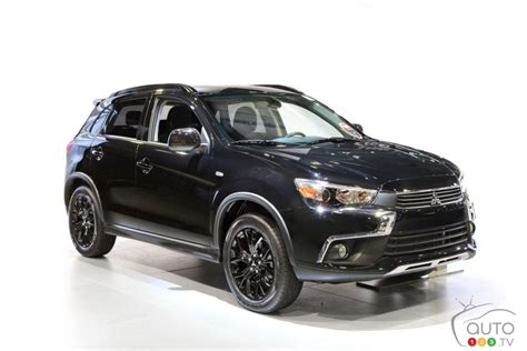 black mitsubishi asx canada only black editions for mitsubishi lancer and rvr